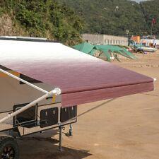 ALEKO Retractable RV Home Patio Canopy Awning 8'X8' Burgundy Fade Color