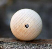 Holzkugel gebohrt 25 mm Buchen Holz massiv Kugel Basteln unbehandelt Kugeln