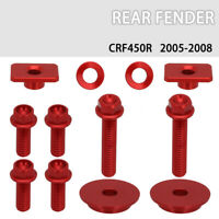 1 Set CNC Screw bolts of Rear Fender For Honda CRF450R 2005-2008 2006 2007 Red