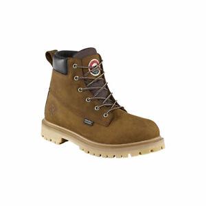 "Irish Setter Men's Hopkins 6"" Waterproof Leather Work Boot Brown Size 9"