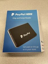 PayPal Pcsusdcrt Chip and Swipe Reader Black Connects Wirelessly Bluetooth