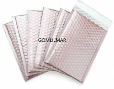 0 65x10 Extra Wide Matte Metallic Poly Bubble Mailers Mailing Padded Envelopes
