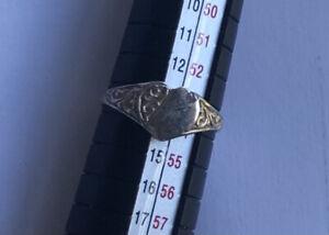 Vintage Sterling Silver Ring Heart Childrens Size N