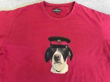 Mens Rodd And Gunn Dog Head Face Smart Casual Dress Short Sleeve Red T Shirt 3XL