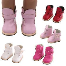 1 par Botas de cuero zapatos de muñeca aptos para 18 inch americano Niña Barbies