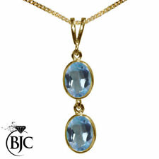 Topaz Oval Yellow Gold Fine Necklaces & Pendants