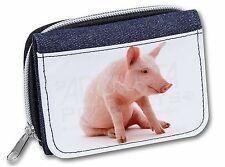 Cute Pink Pig Girls/Ladies Denim Purse Wallet Christmas Gift Idea, AP-20JW