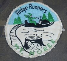 Vintage 1970's Ridge Runners Mount Horeb WI Snowmobile Club Patch 3.75""