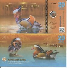 ATLANTIC FOREST BILLETE 20 AVES DOLLARS 2016 SPECIMEN