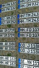 Matching PAIR GERMAN Euro LICENSE PLATE original for  VW BMW SPECIAL OFFER WOW