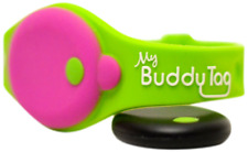 My Buddy Tag with Silicone Wristband, Green