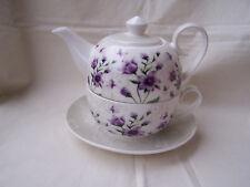 Tea for one aus Brilliantporzellan -  * Blume lila *  ORIGINAL Jameson & Tailor