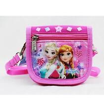 NWT Disney Frozen Elsa & Anna String Strap Wallet Small Purse Pink New