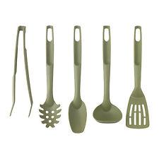 IKEA SPECIELL 5-Piece Plastic Kitchen Utensil Set (Green)