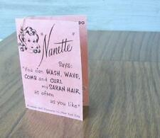 Made For 1950's Arranbee (R & B) NANETTE dolls , A CURLER WRIST Hang TAG