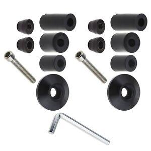 "2pcs CNC Universal Motorcycle 7/8""/22mm Handlebar Grips Bar End Plugs Kit"