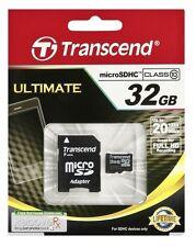 32GB TRANSCEND Premium microSDHC Class 10 mit SD-Adapter
