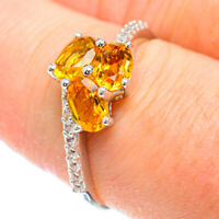 Citrine 925 Sterling Silver Ring Size 8.25 Ana Co Jewelry R51311F