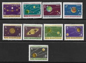 1964  ALBANIA  -  SG. 864 / 872  -  SOLAR SYSTEM PLANETS    -  MNH