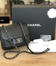 Chanel Small Black Caviar Leather Purse W Aged SHW