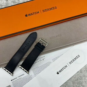 Apple Watch Hermes Hermès Indigo Blue Calf Leather Band 42mm 44mm 1 2 3 4 5 #4