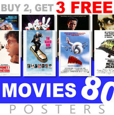 Classic Movie Posters 1980s 80s Poster, A4, A3 270gsm Poster, Prints, Art, Film