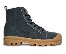 High-Top Lace-Up Sneaker avec soudé Semelle Sur Respirant Coton Organique tissu