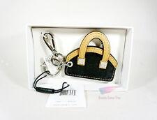 Calvin Klein Key Chain Fob Mini Purse Handbag BLACK and BROWN *NWT* RP$28