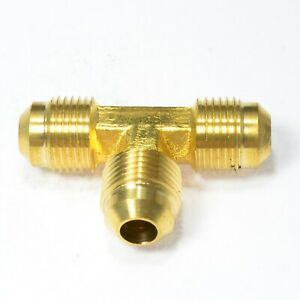 Tee T Male 3/8 Flare Sae 45 degree Fitting 3 Way Hvac Lng Natural Gas Propane Rv