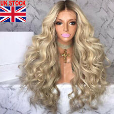 Heat Resistant Synthetic Wig Long Hair Women Full Curly Blonde Wigs
