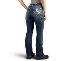 CURVY BOOT CUT EMBELLISHED WING MID-RISE JEANS (99174-16VW)