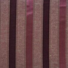 Pencil Pleat Jacquard Striped Curtains Fully Lined Blue Cream Green Purple