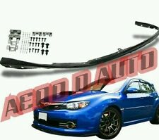 Subaru Impreza Hatchback JDM STi Lip Splitter Front Bumper | Black | 08-10 PU