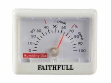 Faithfull THBEECH Thermometer Wall Beech Silver 200mm