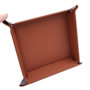 Portable Fold Says Tray Pu Leather Polyhedral Dice For Tabletop Dice Game SA