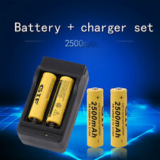 4pcs 14500 3.7V 2500mAh Rechargeable Li-ion Battery + Charger For FlashlightR8