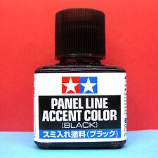 Tamiya #87131 Enamel Panel Line Accent Color (Black) [40ml]