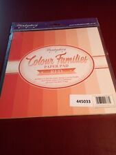 Hunkydory Paper Pad Colour Families Red Brand New 48 Sheets
