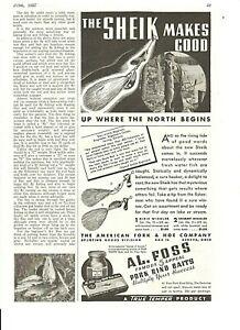 Vintage 1937 AL FOSS SHEIK, DIXIE & SHIMMY WIGGLER + HEDDON RIVER-RUNT-SPOOK Ads