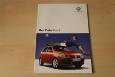 68386) VW Polo 9N Goal Prospekt 01/2006