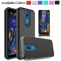 For LG Xpression Plus 2 Case With Screen Protector Shockproof Armor Phone Cover