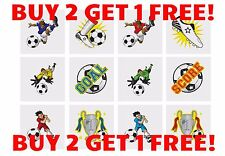 BUY2 GET1 FREE! 36TEMPORARY FOOTBALL TATTOOS KIDS GOODY PARTY BAGS LIMITED OFFER