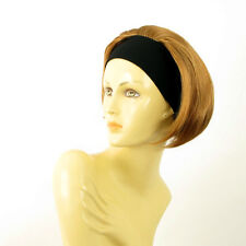 Stirnband Perücke kurze frau dunkelblonden Kupfer AMANDA g27