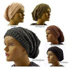 Bonnet Long à la mode chapeau de laine bonnet tricoté en 5 couleurs