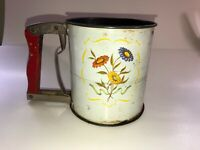 Vintage Tin Litho ANDROCK Hand-i-Sift Flour Sifter Retro Country Kitchen Decor