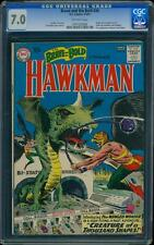 Brave and the Bold 34 CGC 7.0 OW Silver Age Key DC Comic 1st Hawkman @@K
