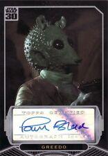 Star Wars 30th Anniversary Paul Blake as Greedo Auto Card