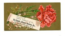 Victorian Trade Card PIPER HAWLEY & CO Dry Goods Gloves Hosiery Manchester NH