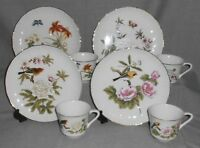 8 pc Set Shafford CHINESE GARDEN PATTERN Four Different SNACK PLATES w/CUPS
