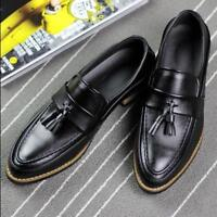 British Men tassel flat casual loafers  dress breathable brogues shoes Sz F248
